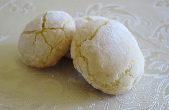 Primer plano de las galletas de limón